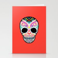 Mexican Skull Stationery Cards