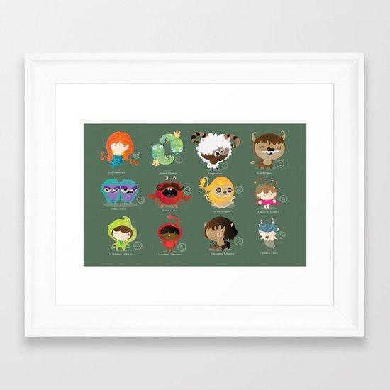 The zodiac Framed Art Print