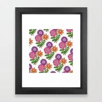Bouquet Pattern Framed Art Print