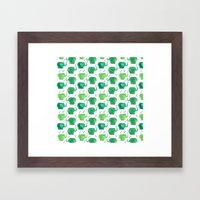 thousands of little green elephants Framed Art Print