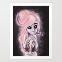aliena skeleton Art Print