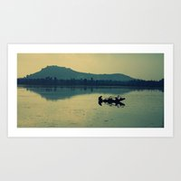 Kashmiri Boatman  Art Print