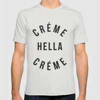 Créme Hella Créme Mens Fitted Tee Silver SMALL