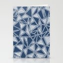 Abstract Outline Lines Navy  Stationery Cards