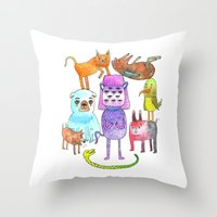 Animal Pyramid Throw Pillow