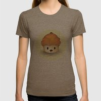 Carrot Cupcake Womens Fitted Tee Tri-Coffee SMALL