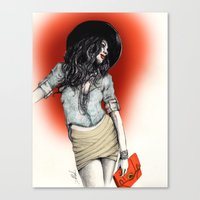 Haute Red Canvas Print