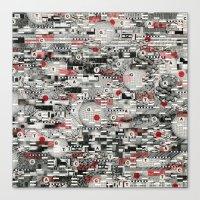 The Flaw Advantage (P/D3 Glitch Collage Studies) Canvas Print