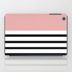 Pinstripe Color Block (Coral) iPad Case