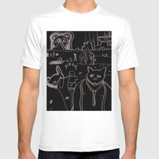 Untitled #10 White Mens Fitted Tee SMALL
