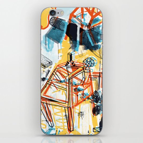 yellowredblueandblack iPhone & iPod Skin