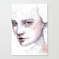 Frozen, quick watercolor portraiture Canvas Print