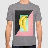 Eat Banana Mens Fitted Tee Tri-Grey SMALL