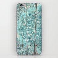 Teal & Aqua Botanical Do… iPhone & iPod Skin