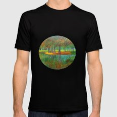 Autumn reflection  Black Mens Fitted Tee SMALL