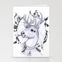 Deer in Dress Code  Stationery Cards