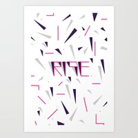 Rise No.2 - White Art Print