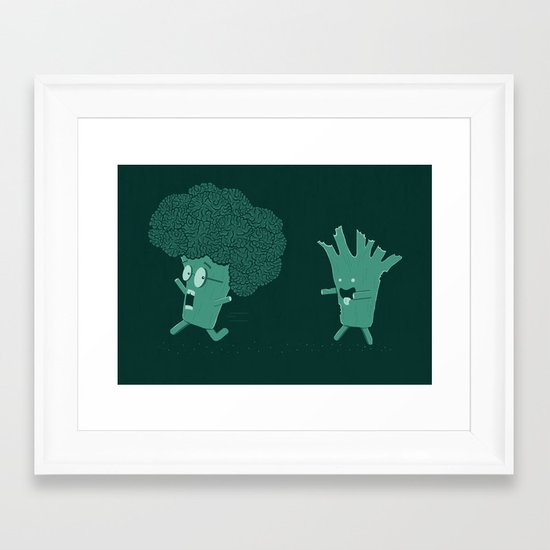 So Many Brains! Framed Art Print