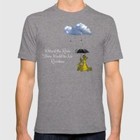 Raining Rainbow Dragon Mens Fitted Tee Tri-Grey SMALL