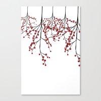 Baies Rouges Canvas Print