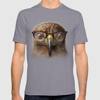 Hipster Eagle Mens Fitted Tee Slate SMALL