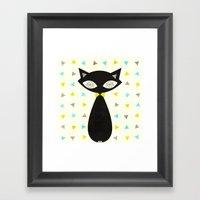 Mid Century Cat  Framed Art Print