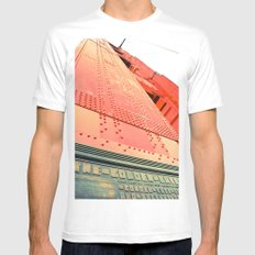 Golden Gate Bridge SMALL White Mens Fitted Tee