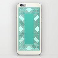 Greek Key turquoise iPhone & iPod Skin