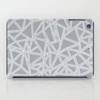 Shattered Ab Grey And Wh… iPad Case