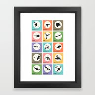 Space Probes Framed Art Print