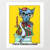Cyrus Tarot Card  Art Print
