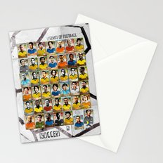 Legends of Football (Soccer). Stationery Cards