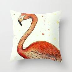 Colourful Flamingo  Throw Pillow