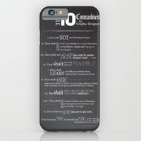 iPhone & iPod Case featuring The 10 Commandments for Graphic Designers by Sheana Firth