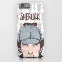 sherlock iPhone & iPod Cases featuring Sherlock by enerjax