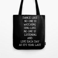 DANCE LIKE Tote Bag
