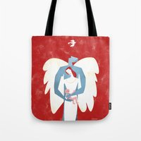 The New Christmas Family in Red Tote Bag