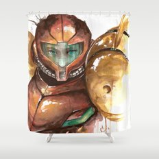 Samus Shower Curtain