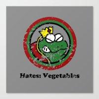 Hates: Vegetables (Battl… Canvas Print