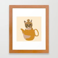A Cup of Cat Framed Art Print