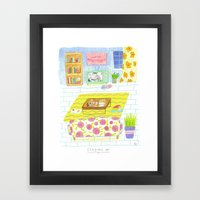 Staying In Framed Art Print