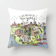 New York City Love Throw Pillow