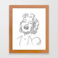 Marilyn Monroe WordsPortrait Framed Art Print