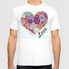 True Love Mens Fitted Tee White SMALL