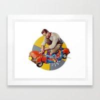 Mr Fixit | Collage Framed Art Print