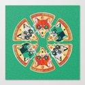 Pizza Slice Cats  Canvas Print