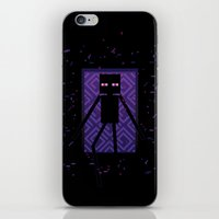 Here Comes The Enderman! iPhone & iPod Skin