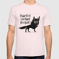Canis Lupus Mens Fitted Tee Light Pink SMALL