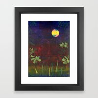 Moon Garden Framed Art Print