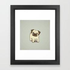 Pug Puppy Illustration Framed Art Print